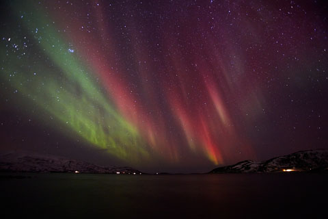 Red Aurora in Ringvassøy