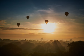 Balloons over Old Bagan