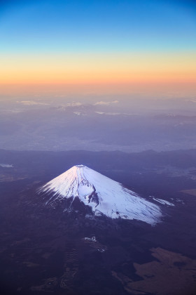 Magnificent Mount Fuji at Dusk