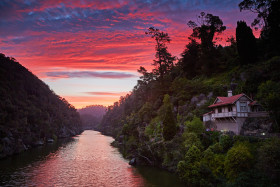 Sunset over the Cataract Gorge