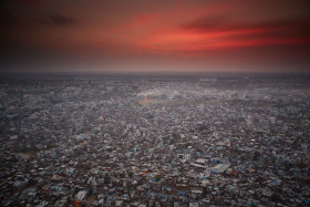 Sunset in Jaipur, from the Nahargarh Fort