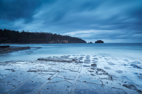 Cloudy Sunrise at Tessellated Pavement