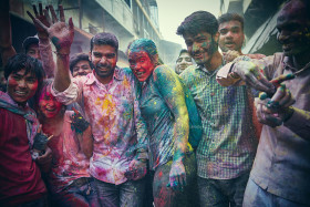Street Celebration of Holi