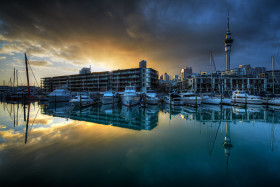 Stormy Sunrise in Auckland