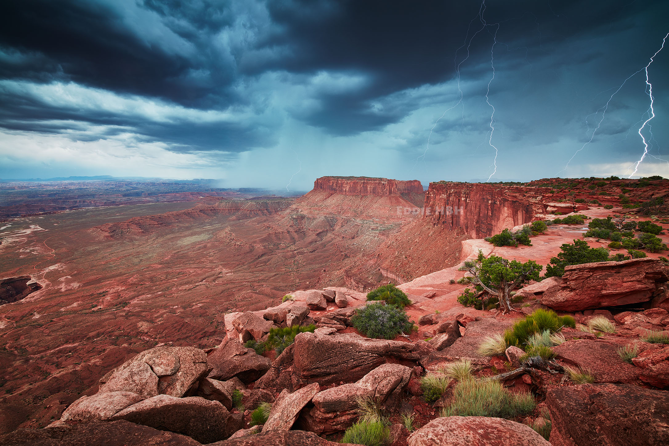 Thunderstorm over Canyon Lands