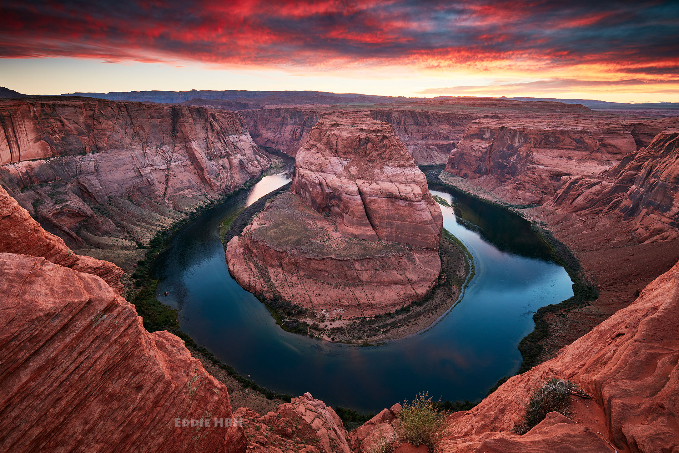 Horseshoe Bend on a stormy day