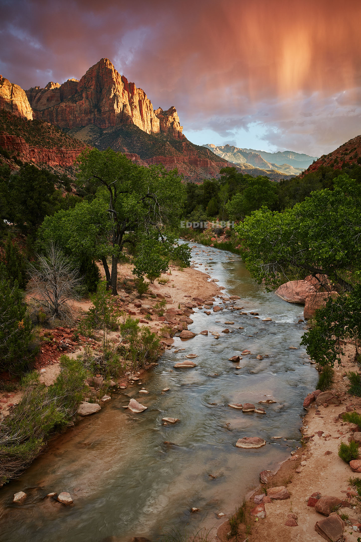 Rainy Sunset in Zion National Park
