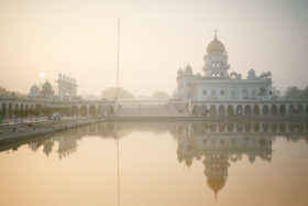 Sunrise at Gurudwara Bangla Sahib
